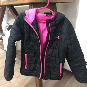 Girls Under Armour Puffer Coat Size 5